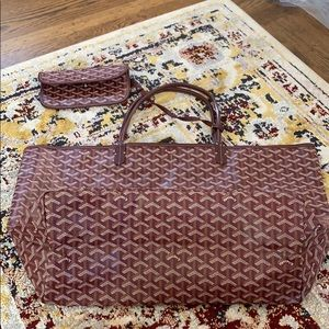Goyard GM St Louis Tote with Pouch Burgundy